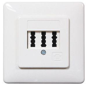 ChiliTec TAE-Anschlussdose NFN, Unterputz 1x Telefon, 2x Fax oder AB
