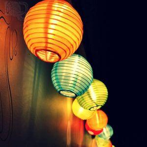 Solar Outdoor Lichterkette 5 Meter 20 LEDs Lampions Laterne Solarbetrieben Lichterkette Wasserfest Weihnachten Dekoration für Garten, Terrasse, Hof, Haus, Weihnachtsbaum, Feiern (Farbe)