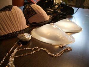 1 Paar Silikon Brüste BH Einlagen - unsichtbar KLAR , Größe:Cup B