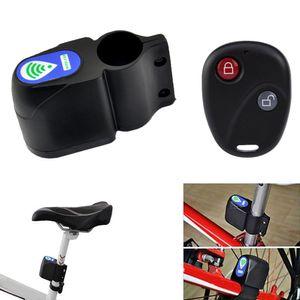 Fahrrad-Anti-Diebstahl-Sicherheitsalarm Alarmalarm mit Fernbedienung-schwarz