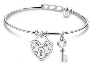 Damen Armband Armreif Edelstahl Lotus Style LS2036-2/4 Schlüssel Schloss