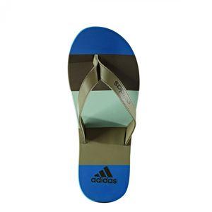 adidas Zehentrenner eezay striped Herren, Farbe:Blautöne, Größe:UK 7 - EUR 40 2/3 - 25 cm