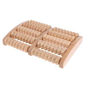 Fußmassageroller aus Holz, Fußmassageroller Holzwalzen Massagegerät, Fußroller, Reflexzonen Massage Fuß