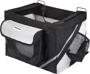ONVAYA® Fahrradkorb für Hunde   Hundekorb für den Lenker vorne   Fahrradtasche in grau & schwarz   Frontfahrradkorb