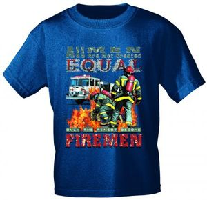 T-Shirt mit Print - Feuerwehr Firemen - 10591 dunkelblau - Gr. S-XXL Größe - XL