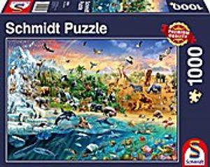 1000 Teile Schmidt Spiele Puzzle Die Welt der Tiere 58324