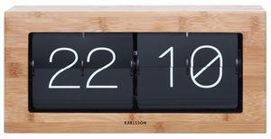 Karlsson uhr Boxed Flip37 x 17,5 x 9 cm Stahl braun/Bambus