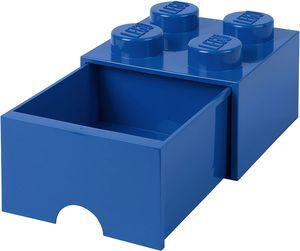 LEGO aufbewahrungsstein mit Schublade 4 Noppen 25 x 17 cm Polypropylen blau