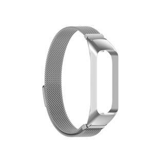 Mehrfarbiges magnetisches Uhrenarmband-Ersatz-Uhrenarmband in Silber für Samsung Galaxy Fit2 SM-R220 Uhrenreparaturteil