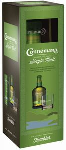 Connemara Peated Single Malt Irish Whiskey  + Tumbler Geschenkset | 40 % vol |0,7 l