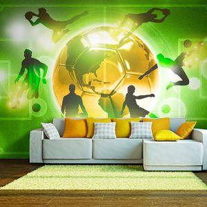 Fototapete selbstklebend Fußball 294x210 cm Tapete Wandtapete Wandbilder Klebefolie Dekofolie Tapetenfolie Wand Dekoration Wohnzimmer - Sport Fussball i-A-0093-a-c