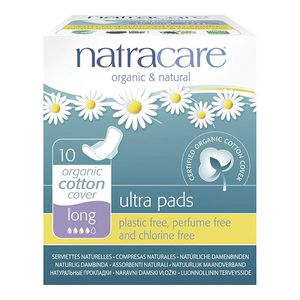 Natracare Ultra Lange Damenbinden mit Flügel 10 Stück Bio