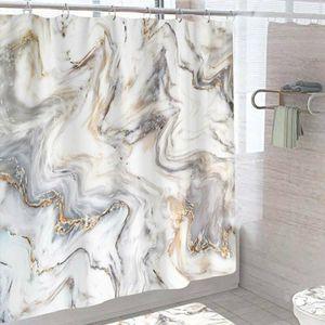 1x Marmor Duschvorhänge Badewanne Vorhang Bad Vorhang Wasserdichtes Badezimmer Badausstattung 180*200cm