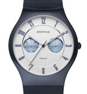 Bering Titanium Collection 11939-394 Elegante Herrenuhr flach & leicht