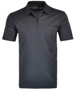 Größe XL Ragman Herren Poloshirt Softknit mit Reißverschluss kurzarm schwarz 540392