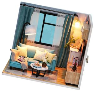 1 Set aus Holz DIY Dollhouse Kit ,