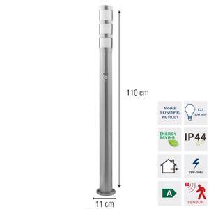 Grafner® Edelstahl Wegleuchte mit Bewegungsmelder WL10201 Gartenlampe 110 cm 2er Set