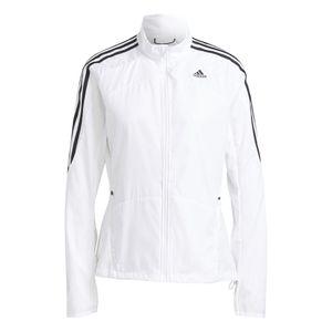 Adidas Marathon 3-Streifen Jacke Damen weiß : L Größe: L