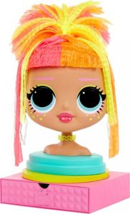 L.O.L. Surprise! O.M.G. Styling Head Neonlicious with Stick-On Hair Kid Toy Gift