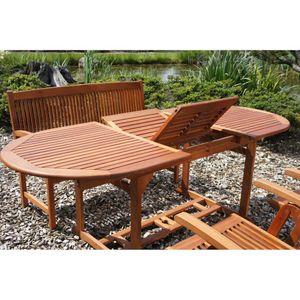 Tisch Stockholm Balkontisch Eukalyptus Gartentisch Holztisch ausziehbar Hartholz