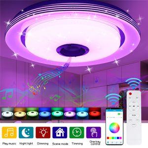 GLIME 60W 102 LED RGB Deckenleuchte bluetooth Musik Lautsprecher Lampe Remote APP 38cm