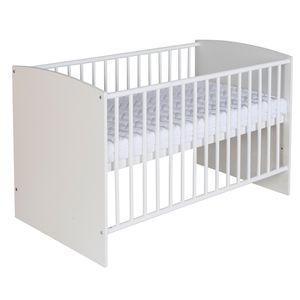 Schardt Kinderbett 60x120 cm Classic White - Maße: 123 cm x 67 cm x 80 cm - Farbe: Weiß, 03 492 02 02