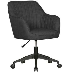 AMSTYLE Schreibtischstuhl MIAMI Anthrazit Stoff Design Drehstuhl mit Lehne 120 kg | Retro Bürostuhl Drehsessel mit Rollen | Designer Schalenstuhl bequem | PC Stuhl Schreibtischsessel Büro | Bürosessel