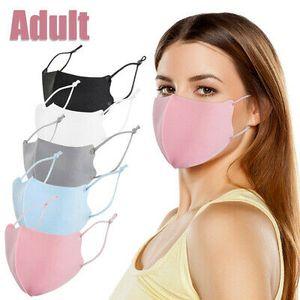 3 Stück Baumwolle Gesichtsmaske Atmungsaktive Waschmaske Schutz Unisex Dünne Maske