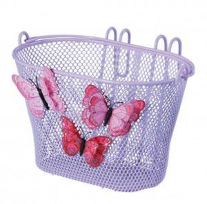 Basil Jasmin Butterfly Kinderkorb vorne Fahrradkorb Lenkerkorb lila
