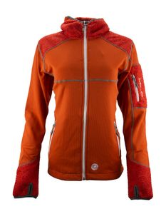 Milo Damen Orie Jacke, Orange/Red Textured, XXL