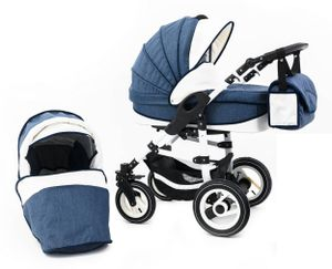 Tabbi ECO LN | 2 in 1 Kombi Kinderwagen | Luftreifen | Farbe: Blue