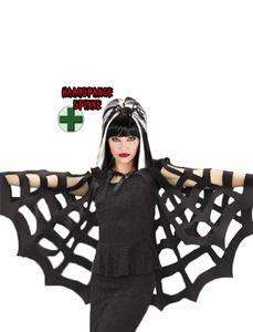 Horror Kostüm Spinnen-Kostüm Umhang Spinne Kopfschmuck Größe: Einheitsgröße