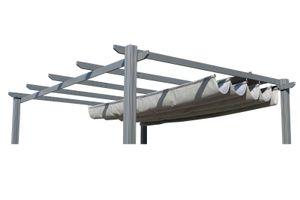 OUTFLEXX Ersatzdach für LECO Pergola, anthrazit, Polyester, wasserabweisend, 390 x 316 cm