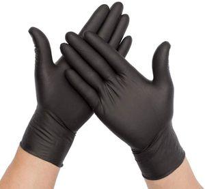 100 Stück Nitril Schwarz Einweghandschuhe Größe M puderfreie medizinische Untersuchungshandschuhe