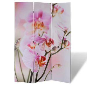 vidaXL Raumteiler klappbar 120 x 170 cm Blume