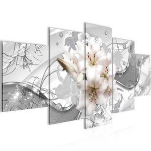 Blumen Lilien BILD :200x100 cm − FOTOGRAFIE AUF VLIES LEINWANDBILD XXL DEKORATION WANDBILDER MODERN KUNSTDRUCK MEHRTEILIG 016151c