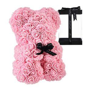 Künstlerische Rosenblüten Dekoration kann als Geschenk Verwendet Werden-Rosa