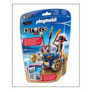 Playmobil - Blaue App-Kanone mit Piraten-Offizier  (6164)