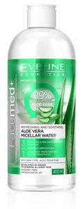 FACEMED+ Erfrischendes Aloe Vera Mizellenwasser 3 in 1, 400 ml