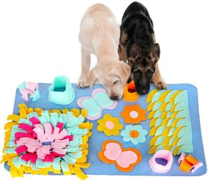 Schnüffelteppich Hunde, Waschbar Faltbar Schnüffelrasen, Trainingsmatte für Haustier Hunde Katzen, Riechen Trainieren Schnüffeldecke Dog Puzzle Toys Hund Snuffle Mat Pet Sniffing Pad