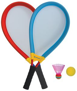 Schildkröt Giant Racket Set, 2 große Schläger, inkl. 1 Federball, 1 Softball, ideal für Kinder