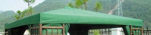 Ersatzdach mit PVC-Beschichtung - Artikel 14852 - Farbe: grün