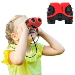8x21 Fernglas für Kinder, Kinderteleskop, Fernglas Leichte kleine Kompaktteleskope, Spielzeuggeschenke Rot
