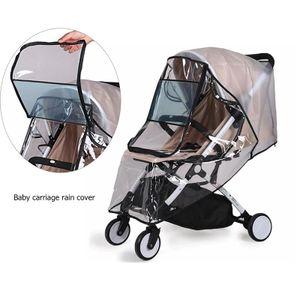 Transparent Regen Abdeckung für Kinderwagen,U-Reißverschlusstür ,  Mit Aufbewahrungstasche,Größe:mittelgroß
