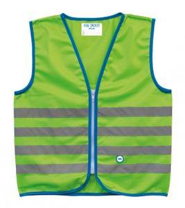 Sicherheitsweste Wowow Fun Jacket für Kinder grün mit Refl.-Streifen Gr. M