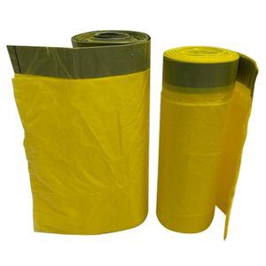 1- 100 Rollen Gelbe Säcke 70L Müllbeutel Müllsäcke Abfallbeutel mit Zugband 2 Rollen - 30 Säcke