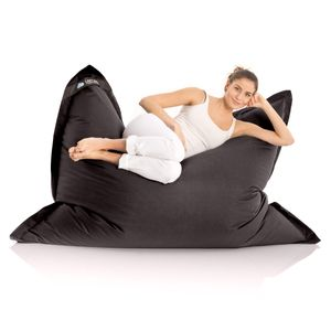 Original LAZY BAG Indoor & Outdoor Sitzsack XXL 400L Riesensitzsack Sitzkissen Sessel für Kinder & Erwachsene 180x140cm - Schwarz