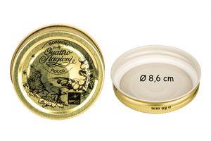10x Bormioli Rocco Quattro Stagioni Metallschraubdeckel TO 86mm Ersatzdeckel für Einmach-gläser