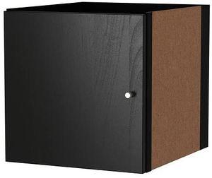 Ikea KALLAX Einsatz mit Tür schwarzbraun