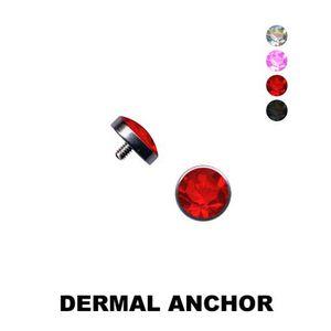 Dermal Anchor: Halbkugel Aufsatz für Hautanker Piercing, Farbe:Pink, Größe:5 mm